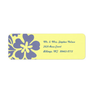 Blue Hawaii Return Address Label