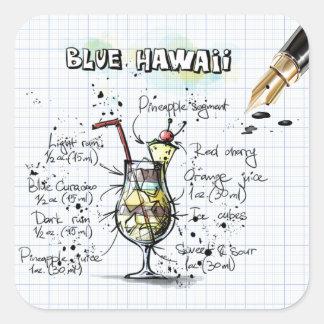 Blue Hawaii Square Sticker