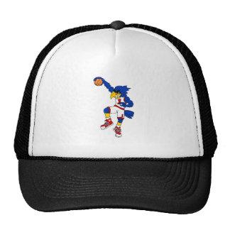 Blue Hawk Basketball Slam Cap