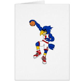 Blue Hawk Basketball Slam Note Card