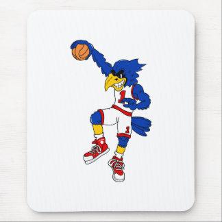 Blue Hawk Basketball Slam Mouse Pad