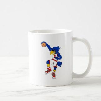 Blue Hawk Basketball Slam Basic White Mug