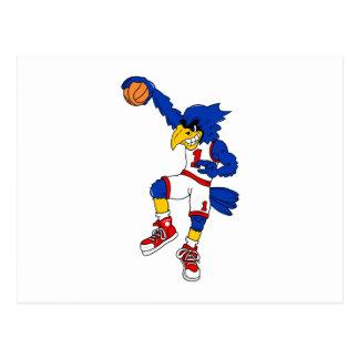 Blue Hawk Basketball Slam Postcard