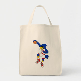 Blue Hawk Basketball Slam Grocery Tote Bag