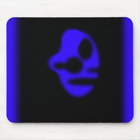 Blue Head Mouse Pad