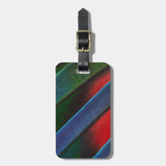 Blue Headed Parrot Feather Design Luggage Tag