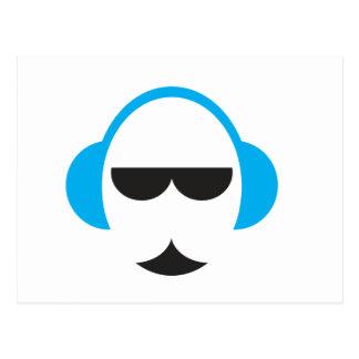 Blue Headphones Postcard