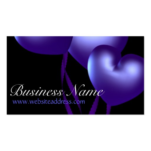 Blue Heart Balloons D1 Party Themed Business Cards