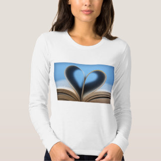 Blue Heart Book Lover T-Shirt  Gift for Her