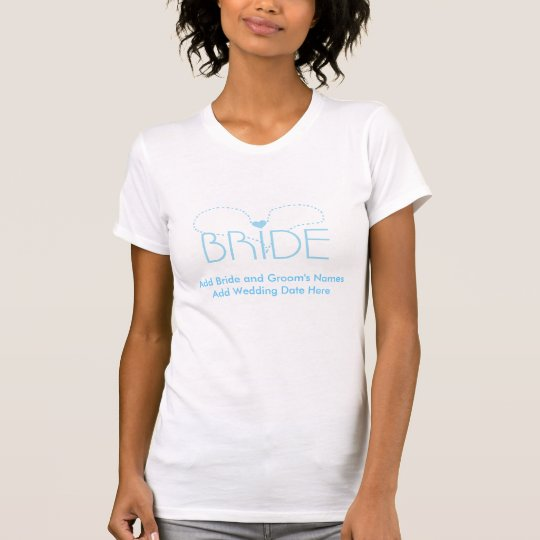 Blue Heart Bride Customisable Tshirts