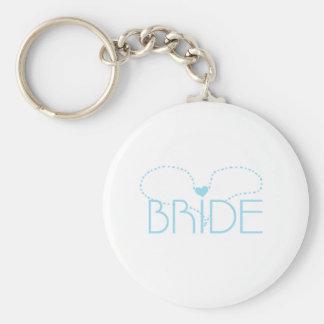 Blue Heart Bride Keychain
