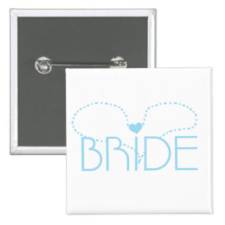 Blue Heart Bride T-shirts and Gifts Pins