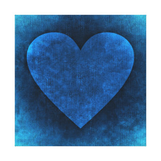 BLUE HEART CANVAS PRINT