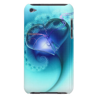 blue heart case of i phione iPod touch cases
