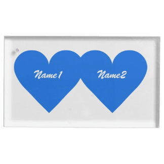 Blue Heart custom table card holder