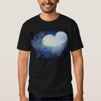 Blue Heart Design Tee Shirt