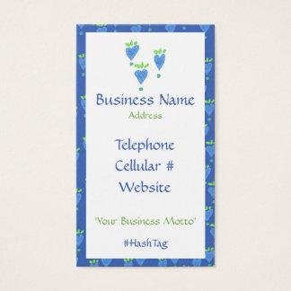 Blue Heart Feminine Business Card