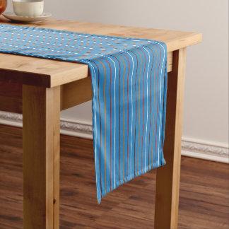 Blue Heart Gingham Short Table Runner