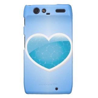 Blue Heart - Happy Birthday Sister Motorola Droid RAZR Covers