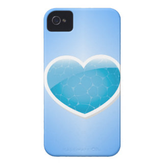 Blue Heart - Happy Birthday Sister iPhone 4 Cases