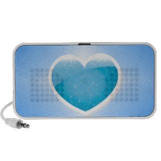 Blue Heart - Happy Birthday Sister Laptop Speaker