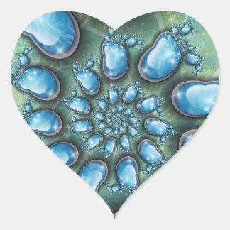 Blue heart heart sticker
