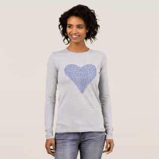 Blue Heart Long Sleeve Tshirt