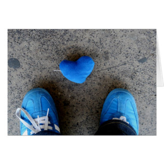 Blue Heart Love Greeting Card