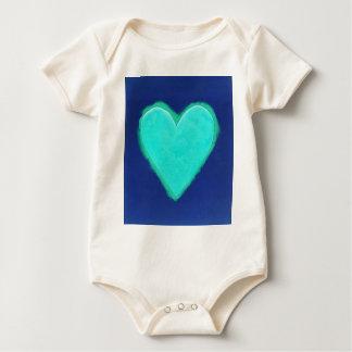 Blue Heart Love Romper