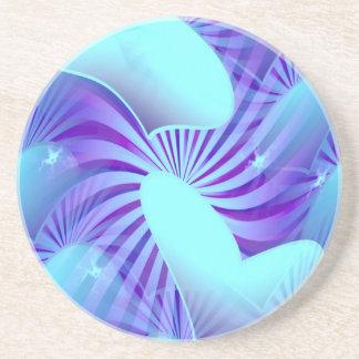 Blue Heart Pattern Coasters