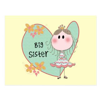 Blue Heart Princess Big Sister Postcard