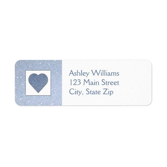 Blue Heart Return Address Labels
