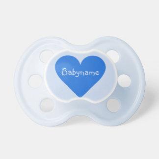 Blue Heart Valentine custom Baby Pacifier
