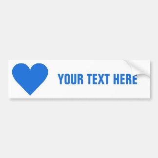 Blue Heart Valentine custom bumpersticker Bumper Sticker