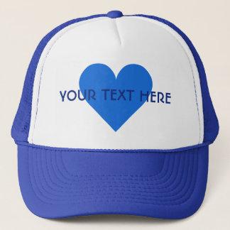 Blue Heart Valentine custom hats