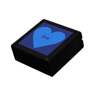 Blue Heart Valentine custom jewelry box