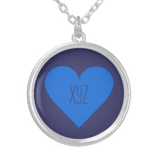 Blue Heart Valentine custom necklace