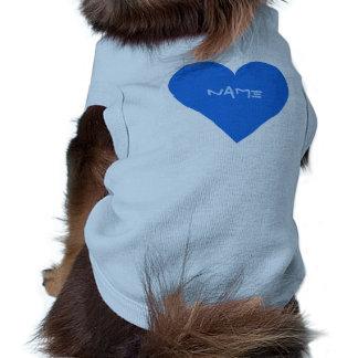 Blue Heart Valentine custom pet clothing