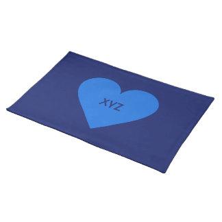 Blue Heart Valentine custom placemats