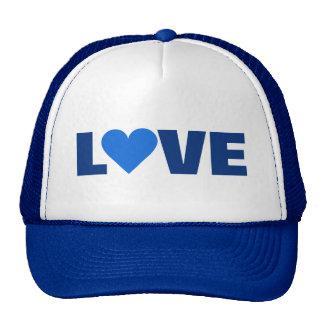 Blue Heart Valentine LOVE hat
