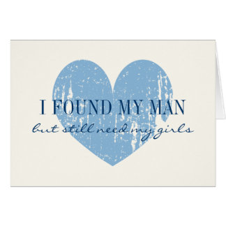 Blue heart Will you be my bridesmaid request cards
