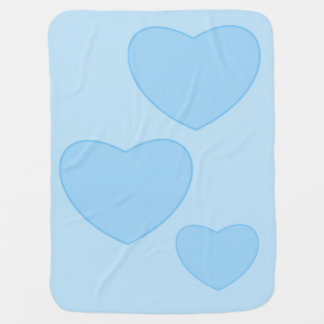 Blue Hearts Baby Blanket