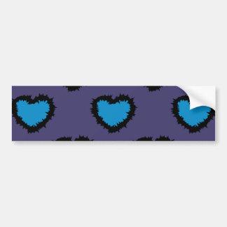 BLUE HEARTS BUMPER STICKER