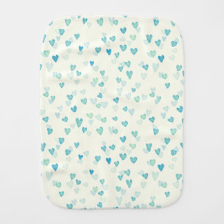 Blue Hearts Burp Cloth