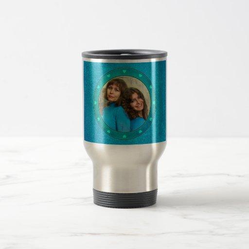 Blue hearts custom  photo frame cute gifts mugs