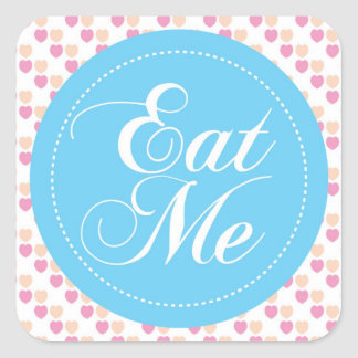 Blue Hearts 'Eat Me' Candy Buffet Sticker