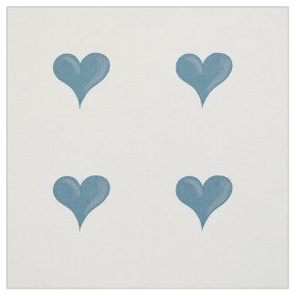 Blue hearts fabric