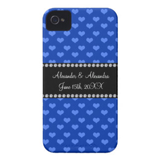 Blue hearts wedding favors iPhone 4 case