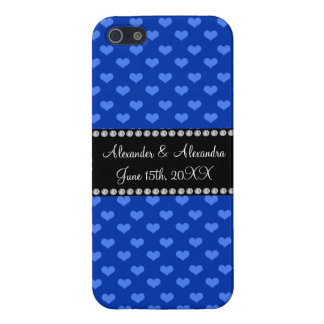 Blue hearts wedding favors covers for iPhone 5