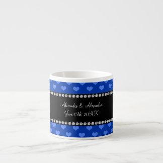 Blue hearts wedding favors espresso cups